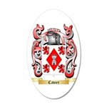 Cavier 20x12 Oval Wall Decal