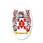 Cavier 35x21 Oval Wall Decal