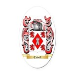 Cavell Oval Car Magnet