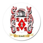 Cavell Round Car Magnet