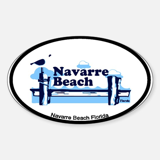 Sanibel Island - Varsity Design. Sticker (Oval)