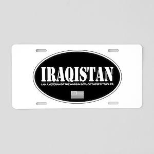 Iraqistan Aluminum License Plate