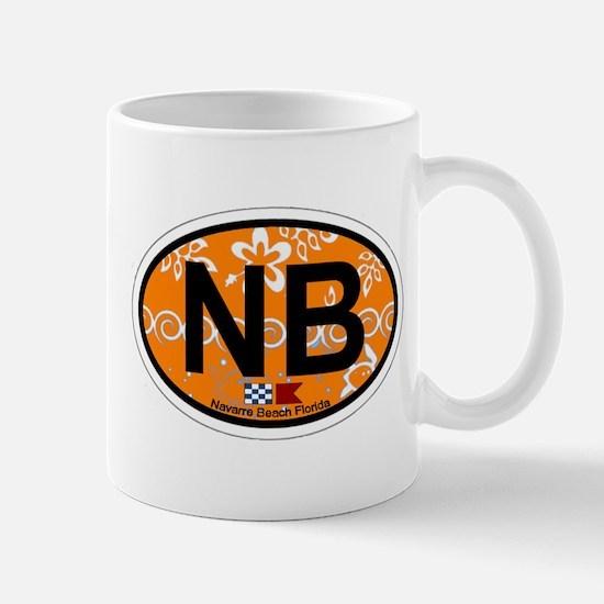 Navarre Beach - Oval Design Mug