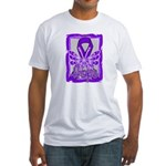 Hope Butterfly Pancreatic Cancer Fitted T-Shirt