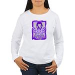 Hope Butterfly Pancreatic Cancer Women's Long Slee