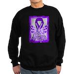 Hope Butterfly Pancreatic Cancer Sweatshirt (dark)