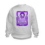 Hope Butterfly Pancreatic Cancer Kids Sweatshirt