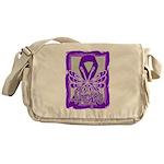 Hope Butterfly Pancreatic Cancer Messenger Bag
