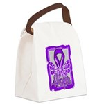 Hope Butterfly Pancreatic Cancer Canvas Lunch Bag