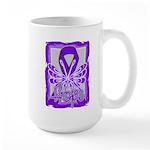 Hope Butterfly Pancreatic Cancer Large Mug