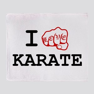 I love Karate Throw Blanket
