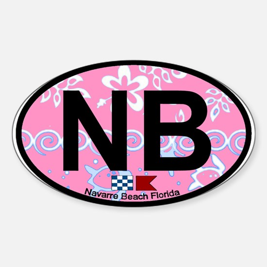 Navarre Beach - Oval Design Sticker (Oval)