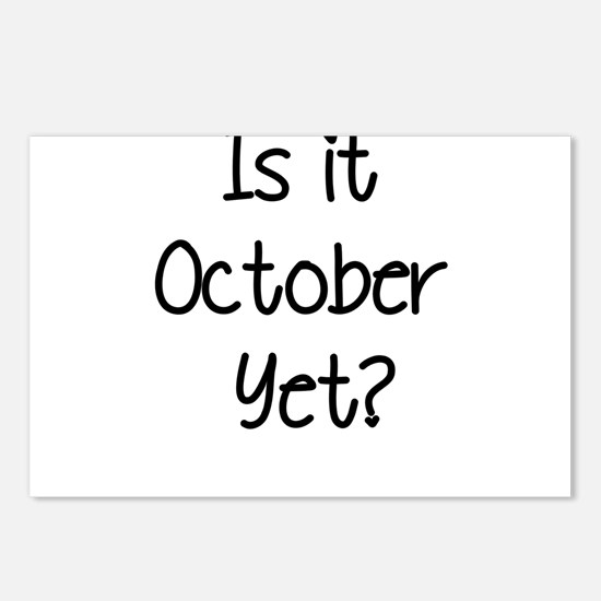 IS IT OCTOBER YET? Postcards (Package of 8)
