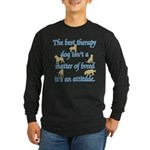 Best Therapy Dog Long Sleeve Dark T-Shirt