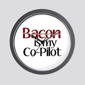 Bacon is my Co-Pilot Wall Clock