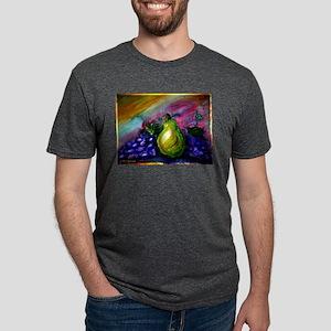 Fruit, Pears, grapes! Bright art! Mens Tri-blend T