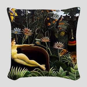 Henri Rousseau The Dream Woven Throw Pillow