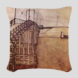 Egon Schiele The Bridge Woven Throw Pillow