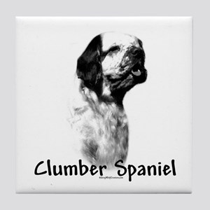 Clumber Spaniel Charcoal Tile Coaster