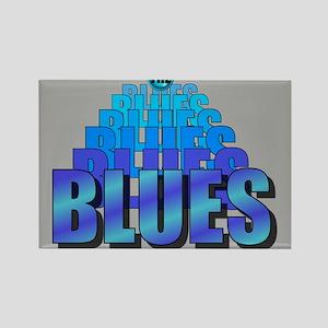 BLUES MUSIC BLUES Rectangle Magnet
