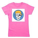 pirate skull colored copy.jpg Girl's Tee