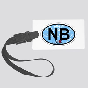Navarre Beach - Oval Design Large Luggage Tag