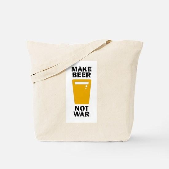 Make Beer Not War Tote Bag