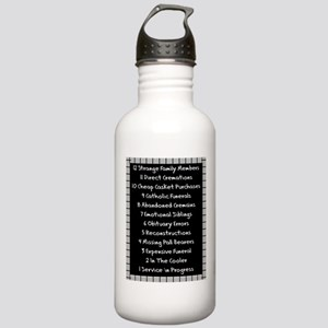 funeral proof 4 Water Bottle