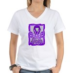 Hope Butterfly GIST Cancer Women's V-Neck T-Shirt