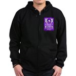 Hope Butterfly GIST Cancer Zip Hoodie (dark)
