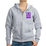 Hope Butterfly GIST Cancer Women's Zip Hoodie