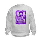 Hope Butterfly GIST Cancer Kids Sweatshirt