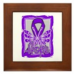 Hope Butterfly GIST Cancer Framed Tile