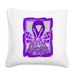 Hope Butterfly GIST Cancer Square Canvas Pillow