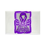Hope Butterfly GIST Cancer Rectangle Magnet (100 p