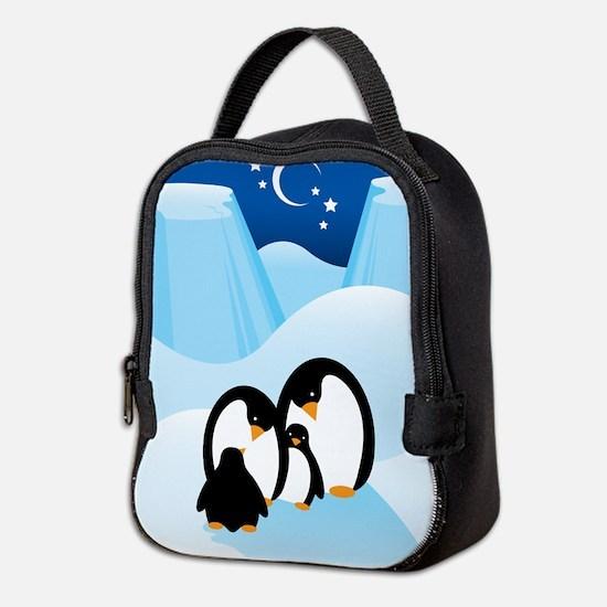 Penguin Family Neoprene Lunch Bag