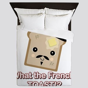 what the french toast Queen Duvet
