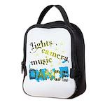 Lights Camera Music Dance Neoprene Lunch Bag