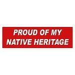 Native Heritage Pride Bumper Sticker