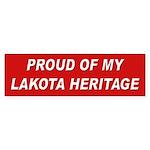 Lakota Heritage Pride Bumper Sticker