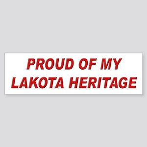 Lakota Pride Bumper Sticker