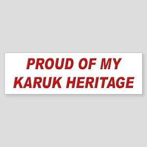 Karuk Heritage Pride Bumper Sticker