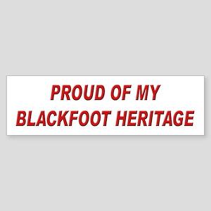 Blackfoot Heritage Pride Bumper Sticker