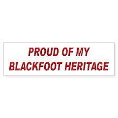 Blackfoot Heritage Pride Bumper Bumper Sticker