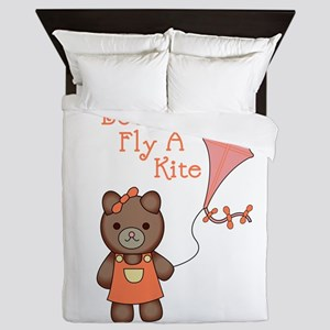 Lets Go Fly A Kite Queen Duvet