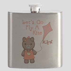 Lets Go Fly A Kite Flask