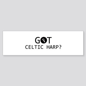 Got Celtic Harp musical designs Sticker (Bumper)