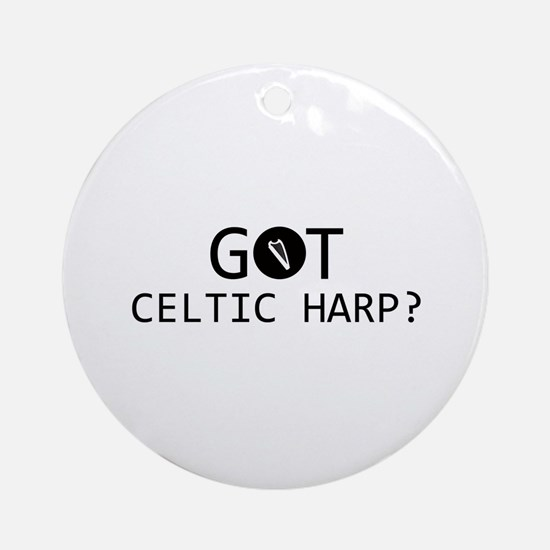 Got Celtic Harp musical designs Ornament (Round)