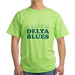 I Love Delta Blues Green T-Shirt
