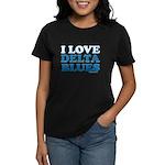 I Love Delta Blues Women's Dark T-Shirt